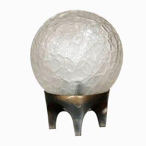 Moderne Tischlampe aus Bronze & Glas, 1960er