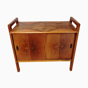 Mid-Century Beech and Walnut Cabinet, 1950s