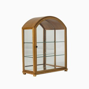Glass & Mahogany Display Cabinet by Josef Frank for Svenskt Tenn, 1950s