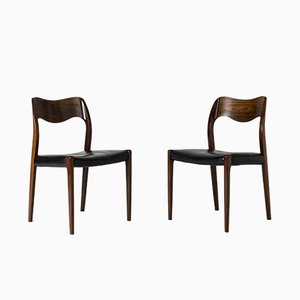 Danish Rosewood Dining Chairs by Niels Otto Møller for J.L. Møllers, 1950s, Set of 6