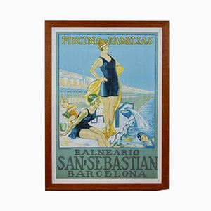 Vintage San Sebastian Barcelona Poster von Cartel