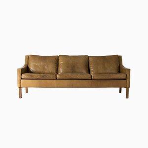 Canapé Vintage en Cuir par Ib Kofod Larsen pour OPE, 1960s