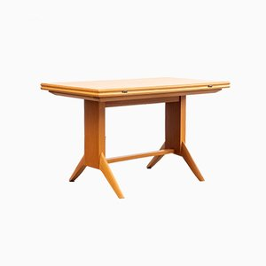 German Cherry Veneer Dining Table from Wilhelm Renz, 1950s