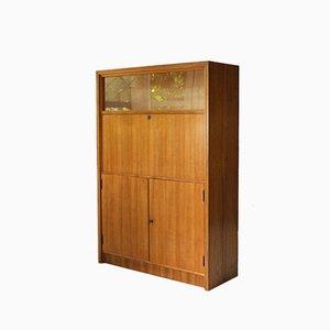 Secretaire in legno di noce, anni '50