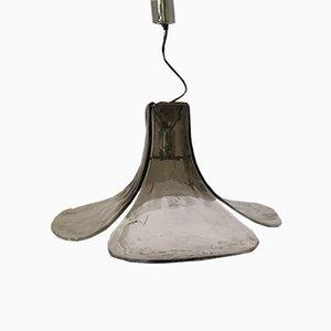 Lámpara de techo LS185 en forma de flor de pétalos de Carlo Nason para Mazzega, años 60