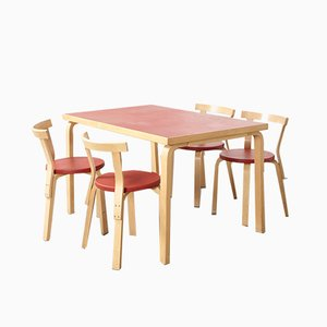 Dining Set by Alvar Aalto for Artek, 1970s
