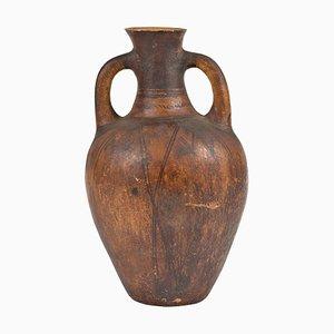 Antiker katalanischer Tramostera Behälter aus Steingut