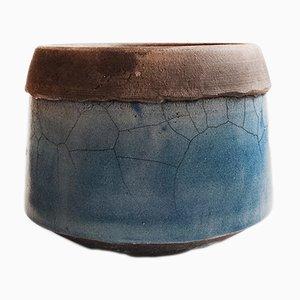 Vintage Raku Schale oder Vase von Coby Haanappel