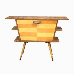 Deutscher Mid-Century Barschrank aus Holz, 1950er