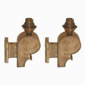 Vintage Bronze Sconces, 1930s, Set of 2