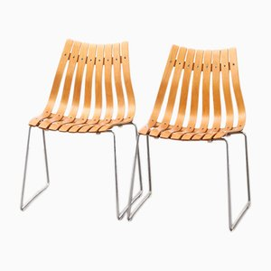 Modernist Dining Chairs by Hans Brattrud for Hove Møbler, 1970s, Set of 2