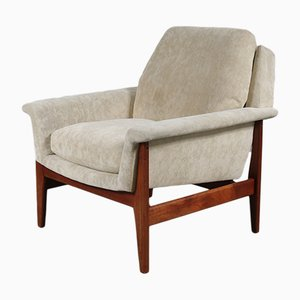 Dutch Fabric & Teak Armchair by Aksel Bender Madsen for Bovenkamp, 1960s