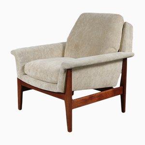 Niederländischer Sessel mit Stoffbezug & Gestell aus Teak von Aksel Bender Madsen für Bovenkamp, 1960er