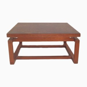 Square Vintage Teak Laminate Coffee Table