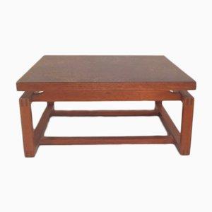 Table Basse Carrée Vintage en Teck Stratifié