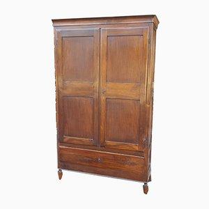 19th Century Italian Charles X Walnut Cupboard