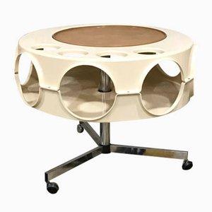 Table Rotobar Space Age en Chrome et Plastique de Curver, 1971
