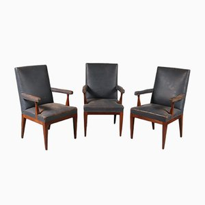 Rosewood Armchair by Theo Tempelman for H. Pander & Zn., 1950s
