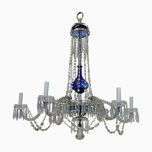Antique Hand-Blown & Cut Glass Chandelier
