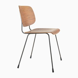 Plywood and Steel Desk Chair by Tjerk Reijenga for Pilastro, 1962