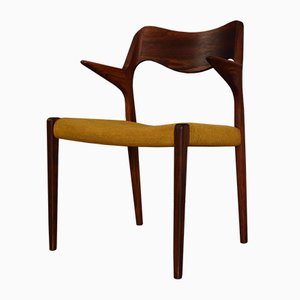 Vintage Model 55 Rosewood Armchair by Niels O. Moller for J.L Mollers