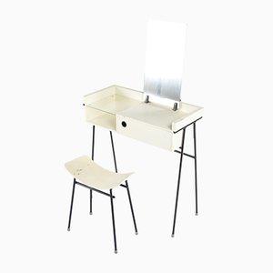 Mesas de trabajo de abedul y vidrio de Rob Parry para DICO (Diks & Coenen), 1956. Juego de x