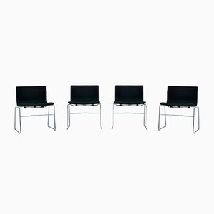 Italian Handkerchief Chairs by Massimo and Lella Vignelli for Knoll, 1980s, Set of 4