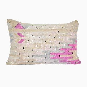 Federa geometrica Kilim fatta a mano di Vintage Pillow Store Contemporary, Turchia