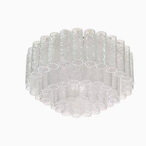 Lámpara plafón grande con tubos de cristal de Murano de Doria Leuchten, años 60