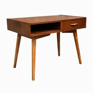 Mid-Century German Beech Side Table, 1960s