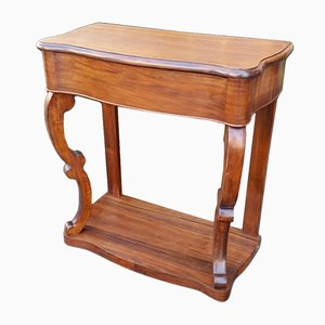 Table Console Louis Philippe Antique en Noyer, France