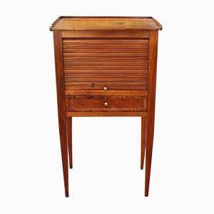 18th-Century Directoire Italian Walnut Bedside Table
