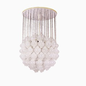 Large Wood and Glass Ceiling Lamp by J. T. Kalmar, 1960s