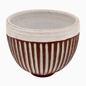 Cuenco vintage de cerámica de Pol Chambost