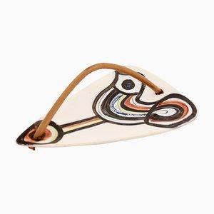 Uccello Vallauros in ceramica di Roger Capron, anni '60