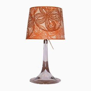 Dänische Vintage Glaslampe von Holmgaard