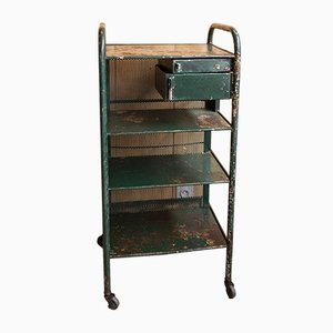 Mid-Century Industrial French Iron Trolley, 1950s