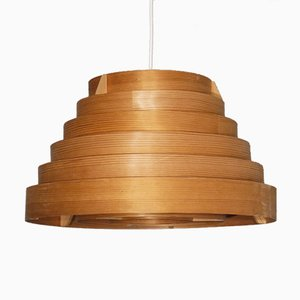 Vintage Wood Pendant Lamp by Hans Agne Jakobsson