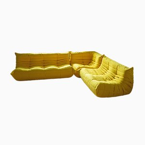 French Microfiber Modular Sofa Set by Michel Ducaroy for Ligne Roset, 1970s