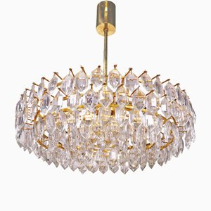 Large Austrian Brass & Crystal Chandelier by Lobmeyr for Bakalowits & Söhne, 1960s