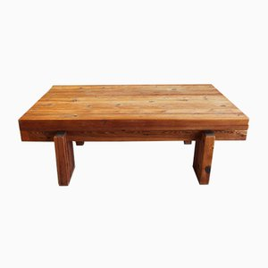 Danish Wood and Pine Coffee Table from Chr. 4, 1970s