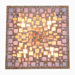 Brutalistische Wandlampe aus Beton und Glas-Mosaik, 1960er