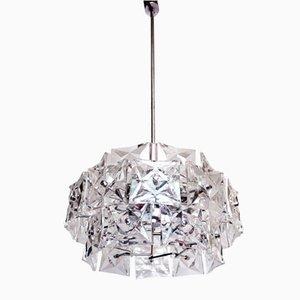 Deutscher Kronleuchter aus Chrom & Kristallglas von Kinkeldey, 1960er