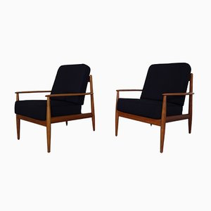 Danish Teak Easy Chairs by Grete Jalk for France & Daverkosen, 1960s, Set of 2
