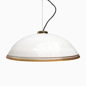 Italienische Dome Deckenlampe aus Muranoglas von Vetrofond, 1970er