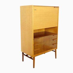 Mid-Century Glass and Wood Cabinet, 1960s