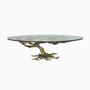 Hand-Crafted Italian Bronze Coffee Table, 1970s