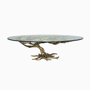 Table Basse Artisanale en Bronze, Italie, 1970s