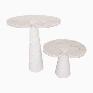 Tavolini Eros in marmo di Angelo Mangiarotti per Skipper, Italia, anni '70, set di 2