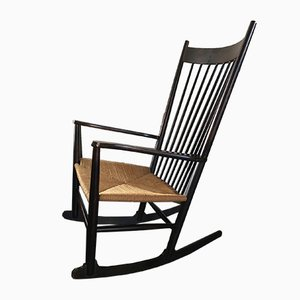 Vintage Danish J16 Rocking Chair by Hans J. Wegner for FDB, 1970s